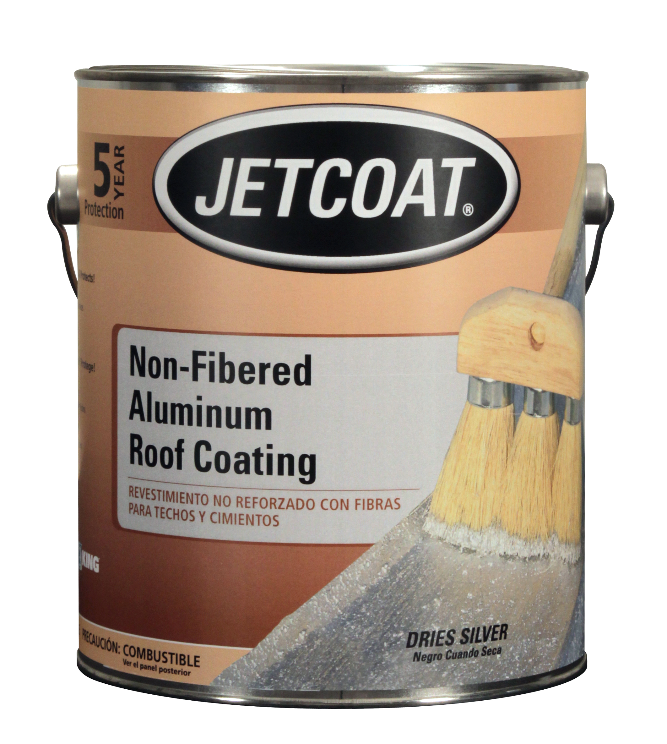 1 Gallon Non Fibered Aluminum Roof Coating, 65731, 6 37843 65731 1 ...