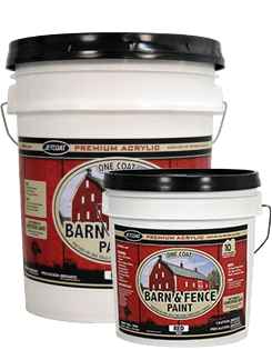 Farm Pride – Red Premium One Coat 100% Acrylic Barn & Fence Paint
