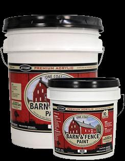 Farm Pride – Red Premium One Coat 100% Acrylic Barn & Fence Paint
