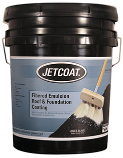 JETCOAT Fibered Emulsion Roof and Foundation Coating