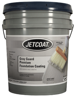 JETCOAT GrayGuard Acrylic Elastomeric Foundation Coating