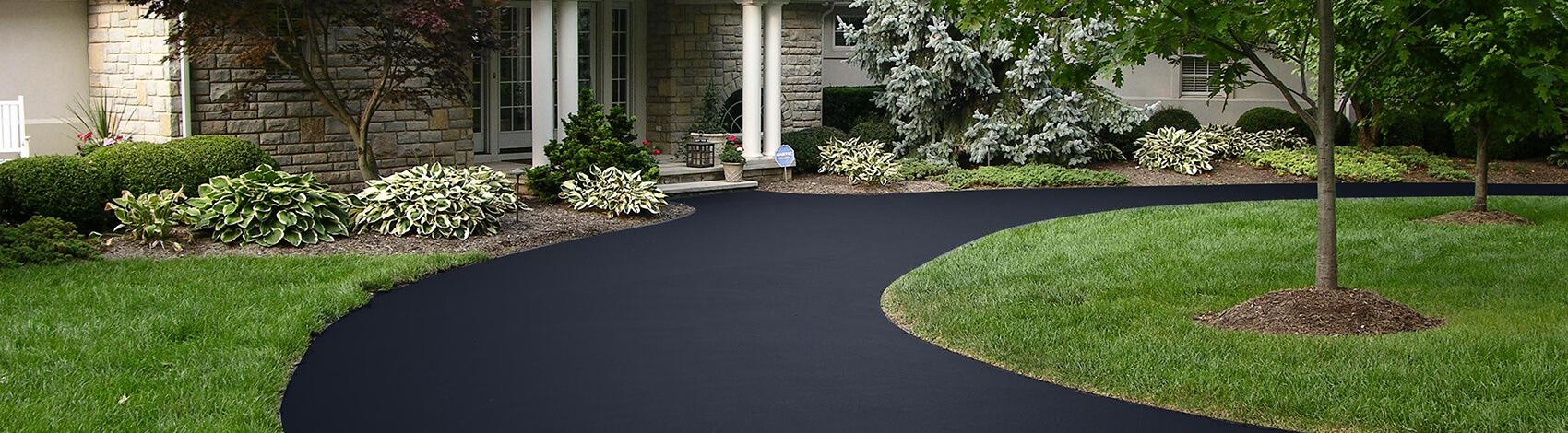 Asphalt driveway sealer, blacktop coating, asphalt sealer, driveway coating