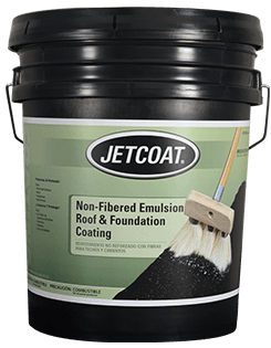 JETCOAT Non-Fibered Emulsion Roof and Foundation Coating