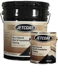 JETCOAT Non-Fibered Roof and Foundation Coating