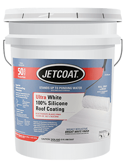 JETCOAT Ultra White 100% Silicone Roof Coating